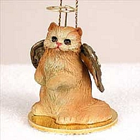 Red Persian Pet Angel Ornament