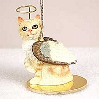 Red Tabby Manx Pet Angel Ornament