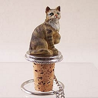 Brown Shorthaired Tabby Cat Bottle Stopper