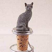 Blue Cornish Rex Bottle Stopper