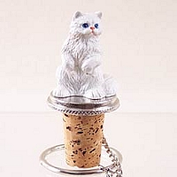 White Persian Bottle Stopper