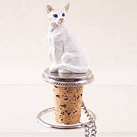 White Oriental Shorthaired Bottle Stopper