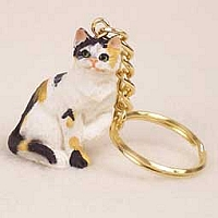 Calico Shorthaired Key Chain