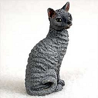 Blue Cornish Rex Tiny One Figurine