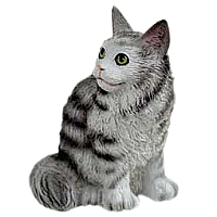 Silver Tabby Maine Coon Cat Tiny One Figurine
