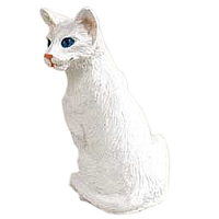 White Oriental Shorthaired Tiny One Figurine