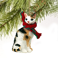 Tortoise & White Cornish Rex Original Ornament