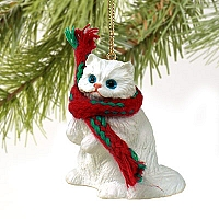 White Persian Original Ornament
