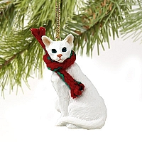 White Oriental Shorthaired Original Ornament