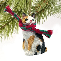 Tortoise & White Japanese Bobtail Original Ornament