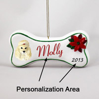 Poodle Apricot Bone Ornament (Personalize-It-Yourself)
