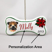 Bulldog Bone Ornament (Personalize-It-Yourself)
