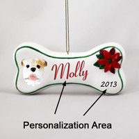 Bulldog White Bone Ornament (Personalize-It-Yourself)