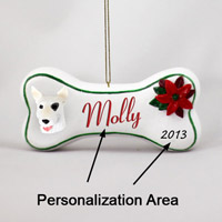 Bull Terrier Bone Ornament (Personalize-It-Yourself)