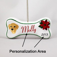 Golden Retriever Bone Ornament (Personalize-It-Yourself)