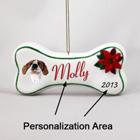 Pointer Brown & White Bone Ornament (Personalize-It-Yourself)