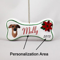 Italian Greyhound Bone Ornament (Personalize-It-Yourself)