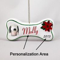 Bedlington Terrier Bone Ornament (Personalize-It-Yourself)