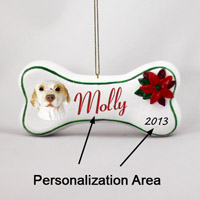 Clumber Spaniel Bone Ornament (Personalize-It-Yourself)