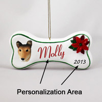Collie Smooth Hair Bone Ornament (Personalize-It-Yourself)