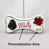 Cocker Spaniel English Black Bone Ornament (Personalize-It-Yourself)
