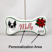 Boston Terrier Bone Ornament (Personalize-It-Yourself)