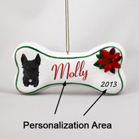 Schnauzer Black Bone Ornament (Personalize-It-Yourself)