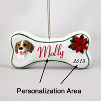 Beagle Bone Ornament (Personalize-It-Yourself)