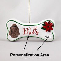 Cocker Spaniel Brown Bone Ornament (Personalize-It-Yourself)