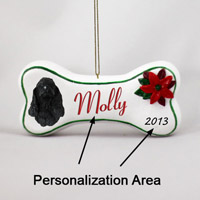 Cocker Spaniel Black Bone Ornament (Personalize-It-Yourself)