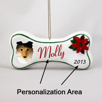 Sheltie Sable Bone Ornament (Personalize-It-Yourself)