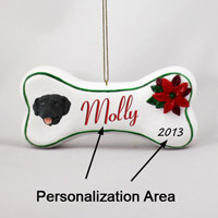 Labrador Retriever Black Bone Ornament (Personalize-It-Yourself)