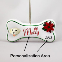 Labrador Retriever Yellow Bone Ornament (Personalize-It-Yourself)