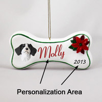 Brittany Liver & White Spaniel Bone Ornament (Personalize-It-Yourself)
