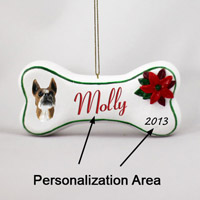 Boxer Bone Ornament (Personalize-It-Yourself)