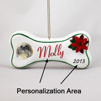 Pekingese Bone Ornament (Personalize-It-Yourself)