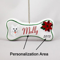 Samoyed Bone Ornament (Personalize-It-Yourself)