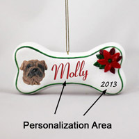 Shar Pei Brown Bone Ornament (Personalize-It-Yourself)