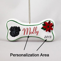 Shar Pei Black Bone Ornament (Personalize-It-Yourself)