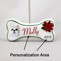 West Highland Terrier Bone Ornament (Personalize-It-Yourself)