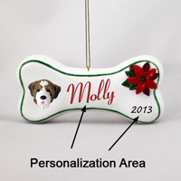 Saint Bernard w/Smooth Coat Bone Ornament (Personalize-It-Yourself)
