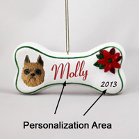 Brussels Griffon Red Bone Ornament (Personalize-It-Yourself)