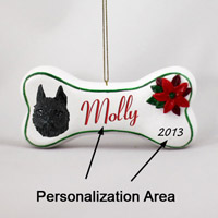 Brussels Griffon Black Bone Ornament (Personalize-It-Yourself)