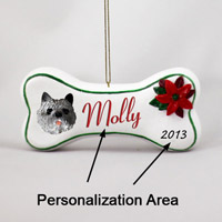 Cairn Terrier Gray Bone Ornament (Personalize-It-Yourself)