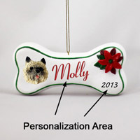 Cairn Terrier Red Bone Ornament (Personalize-It-Yourself)