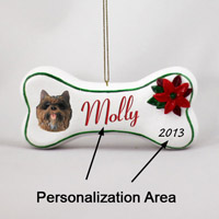 Cairn Terrier Brindle Bone Ornament (Personalize-It-Yourself)