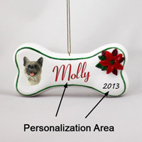 Akita Gray Bone Ornament (Personalize-It-Yourself)