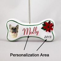 Akita Fawn Bone Ornament (Personalize-It-Yourself)