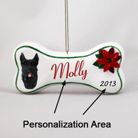 Schnauzer Giant Black Bone Ornament (Personalize-It-Yourself)