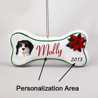 Bernese Mountain Dog Bone Ornament (Personalize-It-Yourself)